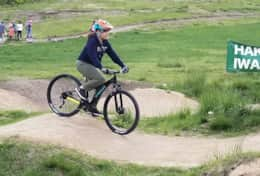 Shiho on her 1st ever pump track. We love MTB.