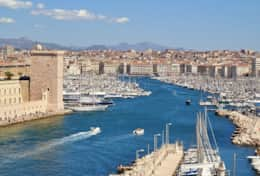 View of Marseille from the Pharo