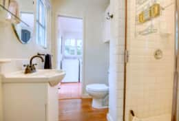 The Second Bathroom can be Accessed both from the Second Bedroom and the Laundry Room