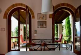 Villa Montone, kitchen with covered terrace