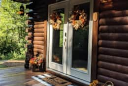 Waynesville Smokies Overlook Lodge Cabin - Front Door 1