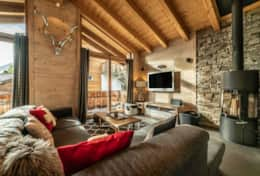 Le Petit Mouton Living Area with Fireplace