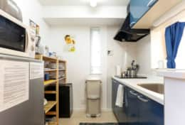 Galley kitchen |Submarine House| Tokyo Family Stays |Spacious |