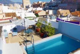 Rooftop private pool and terrace