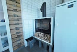 Atlantic View Lofoten fireplace