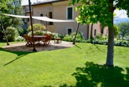 Private terrace in the garden for the guests of the Villa Ecologica
