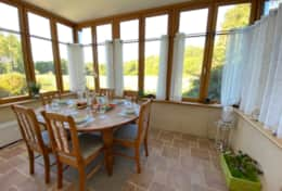 Our conservatory/dining room with lovely views