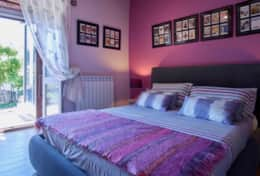 Villa Silvignano, master bedroom ground floor