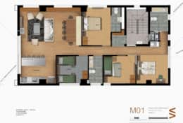 Level 3  - Four Bedrooms apartment)