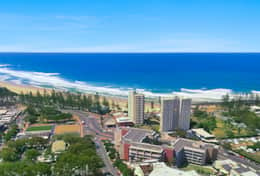 Panorama Burleigh Beach Tower area