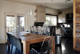 Open concept dining room and living room, with open access to living room. BBQ at your doorstep.