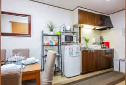 Kitchen and dining area Tokyo Family Stays | Yoyo house| Family friendly accommodation |