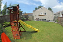 Slide, rock climbing and swing set for kids ages 2-10! Plus complimentary kayaks!