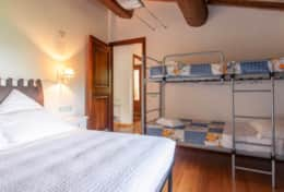 Il Paradiso Assisi, double bedroom 3 with extra bunkbed