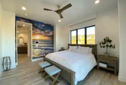 The beach suite with beach mural