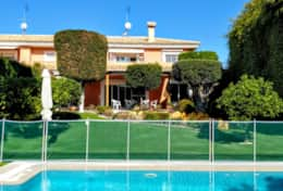 The Villa Overlooks a picturesque garden and Swimming Pool