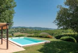 Casa San Terenziano pool with great views
