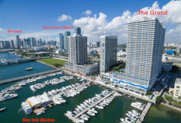 The Grand located downtown Miami on Biscayne Bay, Sea Isles marina, 2 miles to Brickell