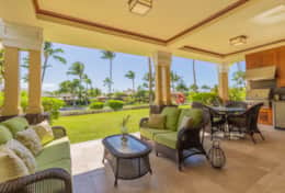 422 sqft. lanai with mountain and ocean views