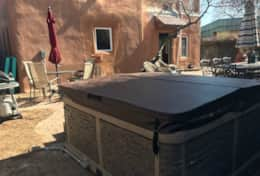 Hot tub for 6 installed in February 2020. Hot and ready for your stay.
