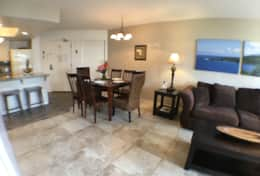 Dining & living room with a/c and lanai access.