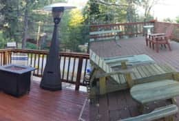 Decks at BOTH cabins - Get Lost Inn 2 & Nut House Cabin
