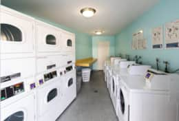 Communal card operated washer + dryer