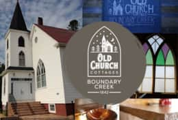 www.OldChurchCottages.com Boundary Creek, NB,  @church_cottages