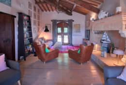 Villa Silvignano, living room first floor