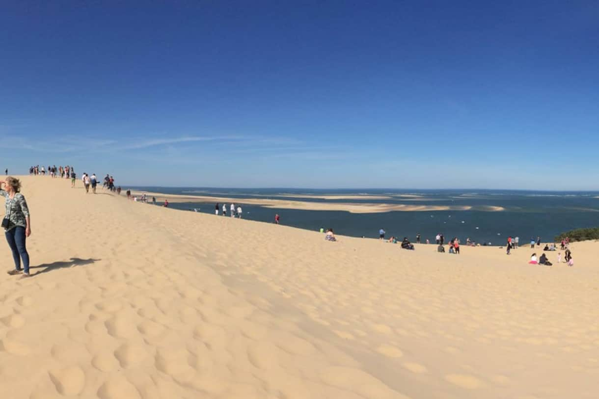 Dune du Pilat; Europe's tallest sand dune between Atlantic Ocean and pine forest - 1 hour drive