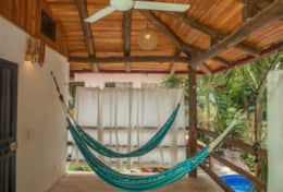 Villa Rio hammock time on the upstairs balcony