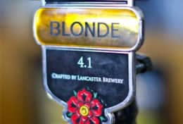 Lancaster Blonde brewed by Lancaster Brewery