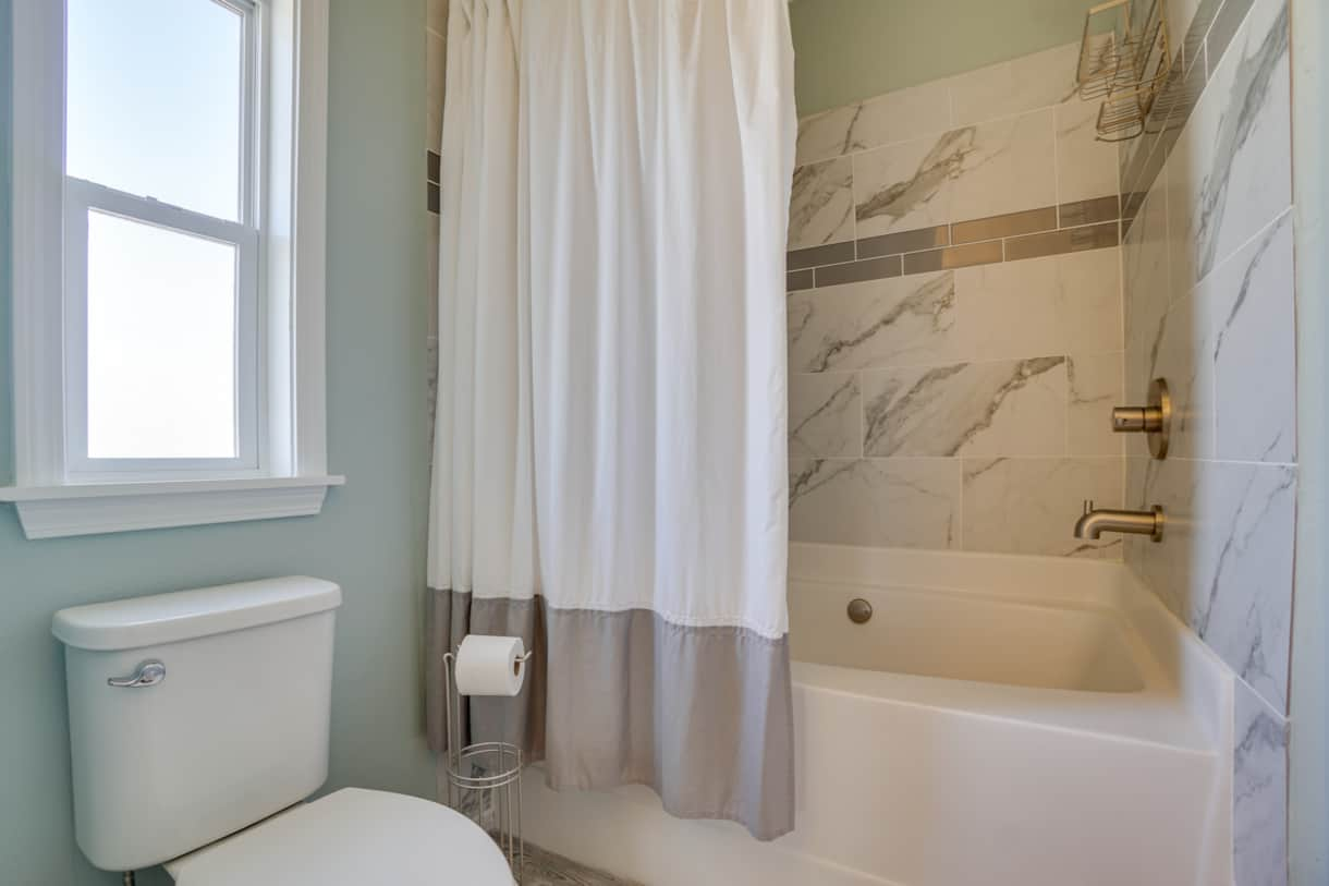 Master Bath with deep tub / shower combo