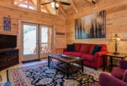 Hideaway at High Rock Cabin Living Room