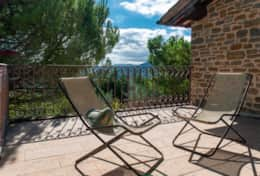 Il Paradiso Assisi, the terrace in front of the double bedroom
