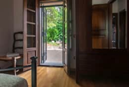 Il Paradiso Assisi, double bedroom with direct access to the garden