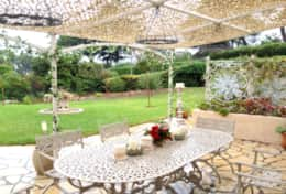 Outdoor dining and garden