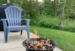Endless Blue features a gas fire pit.