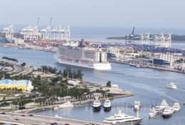 Port of Miami - Views off balcony