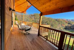 Deck with Smoky Mountain View