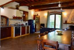 Canale, kitchen and living room