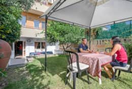 Offering garden view  with seating area for 20 people