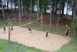 Beach volleyball at your own private cottage chalet!