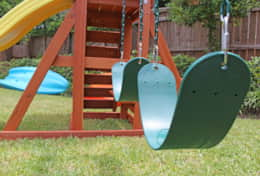 Slide, rock climbing and swing set for kids ages 2-10!
