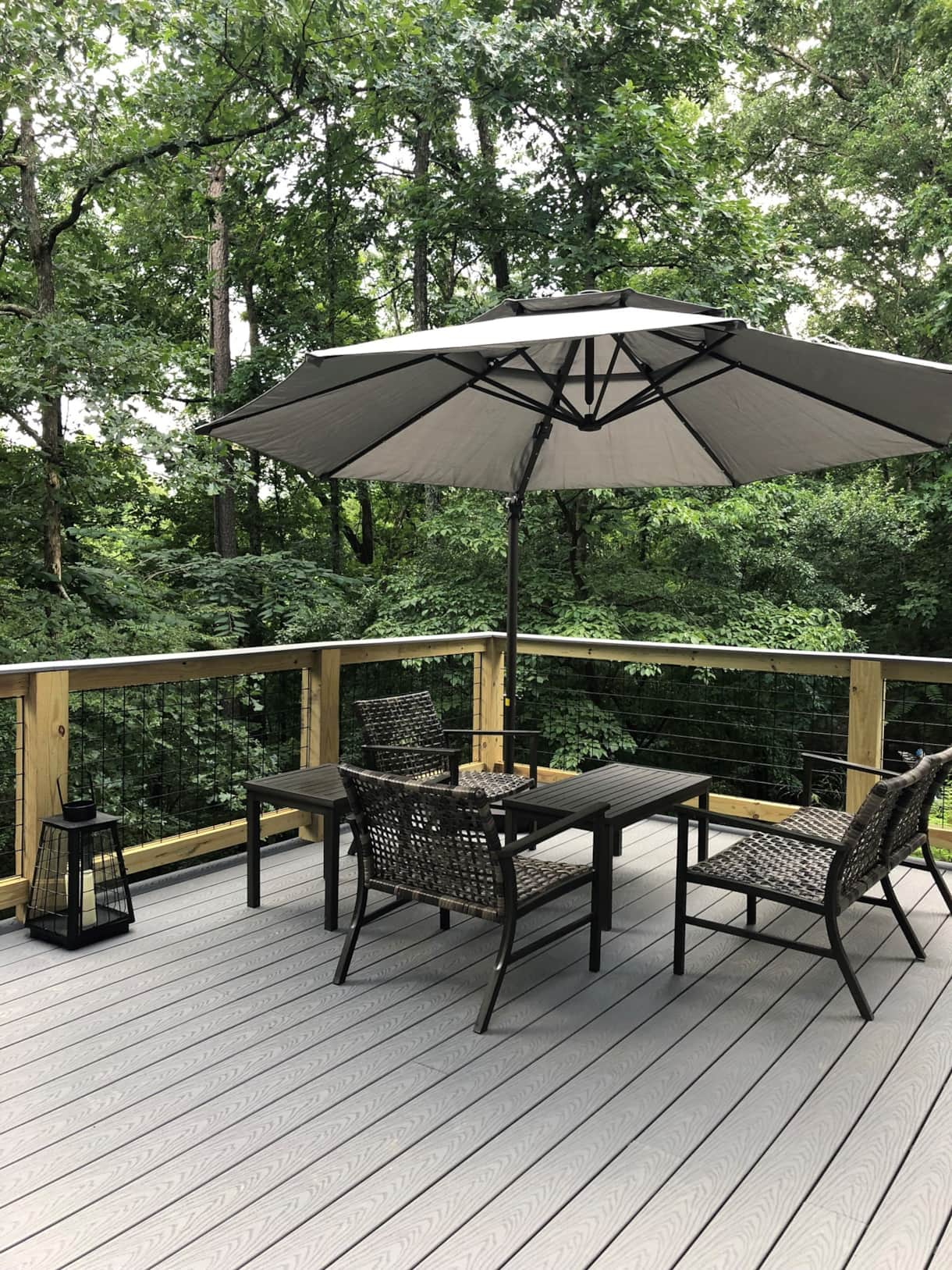 BRAND NEW large backyard deck