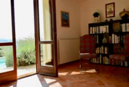 Villa Montone, basement floor with library