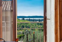 Villa Pascoli, view from the twin bedroom