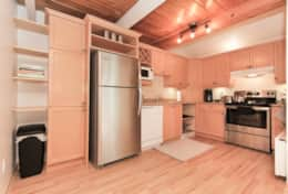 Kitchen - Fully stocked for cooking and includes a toaster, microwave, coffee machine and coffee