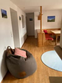 Fewo #02 mit 2 SZ, Wohnraum, Küche, Terrasse