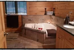 Soak in the tub after a long day of relaxing on the dock! :)